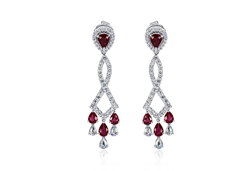 Ladies Diamond Earrings - DE82 - GN Designer Jewellers
