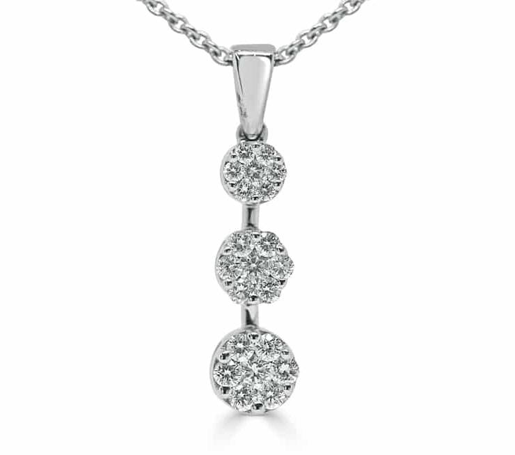 Ladies Diamond Pendant - DP136 - GN Designer Jewellers