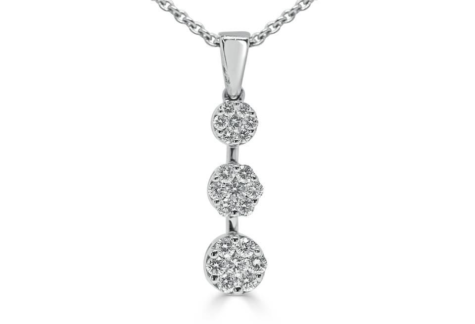 Ladies Diamond Pendant - DP136 - GN Designer Jewellers