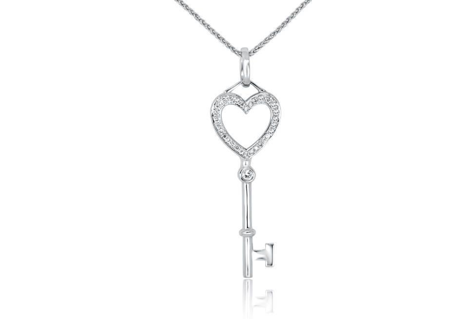 Diamond Pendant - DP240 - GN Designer Jewellers