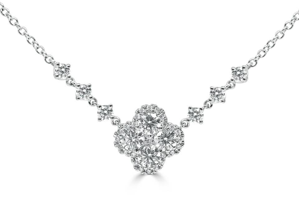 Ladies Diamond Pendant - DP260 - GN Designer Jewellers