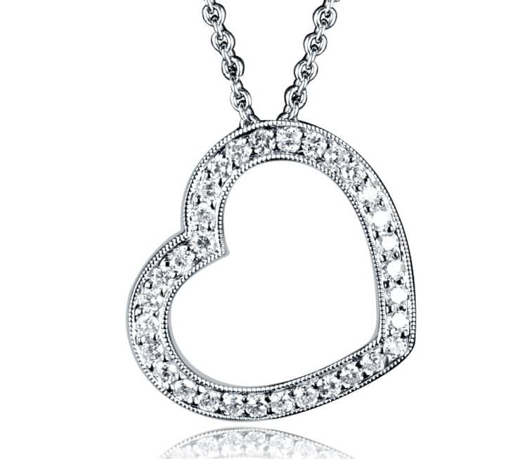 Ladies Diamond Pendant - DP270 - GN Designer Jewellers