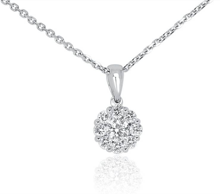Ladies Diamond Pendant - DP278 - GN Designer Jewellers