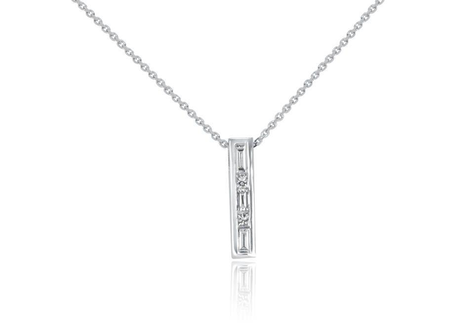 Ladies Diamond Pendants - DP284 - GN Designer Jewellers