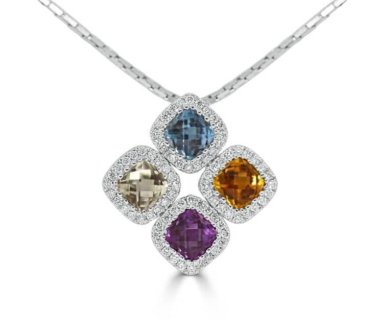 Ladies Diamond Pendant - DP285 - GN Designer Jewellers