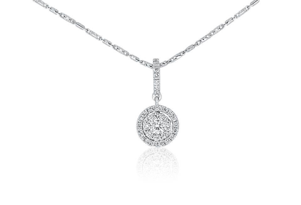 Diamond Pendant - DP310 - GN Designer Jewellers