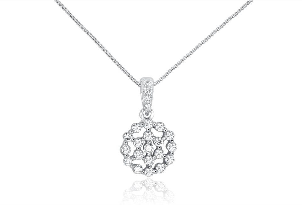 Diamond Pendant - DP313 - GN Designer Jewellers