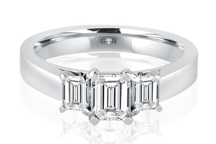 Ladies Three Stone Engagement Ring - R1046 - GN Designer Jewellers