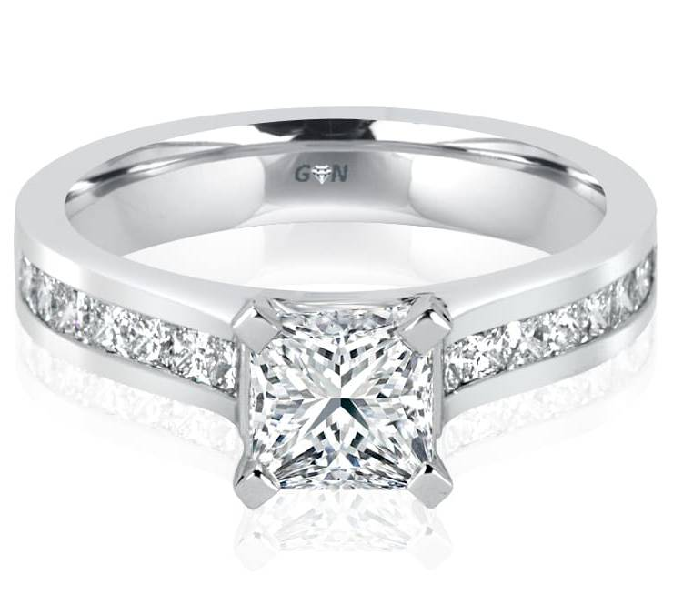 Ladies Solitaire Multi Band Engagement Ring - R1052 - GN Designer Jewellers