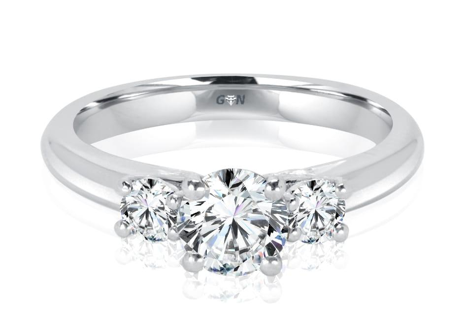 Ladies Three Stone Design Engagement Ring - R1064 - GN Designer Jewellers