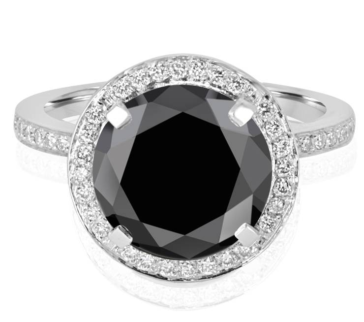 Ladies Halo Design Coloured Stone Engagement Ring - R1066 - GN Designer Jewellers