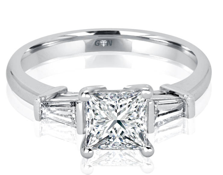 Ladies Three Stone Design Engagement Ring - R1075 - GN Designer Jewellers