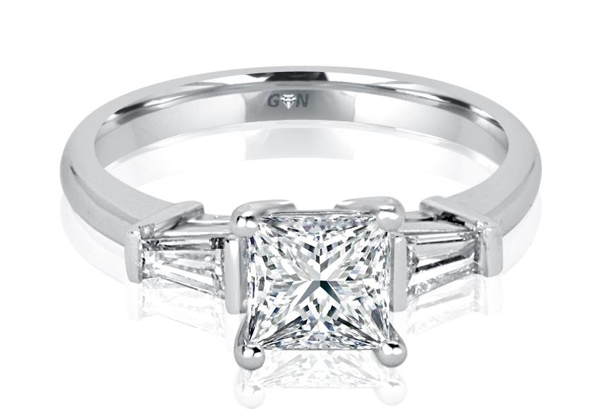 Ladies Three Stone Design Engagement Ring - R1075 - GN Designer Jewellers