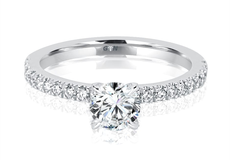 Ladies Solitaire Multi Band Engagement Ring - R1089 - GN Designer Jewellers