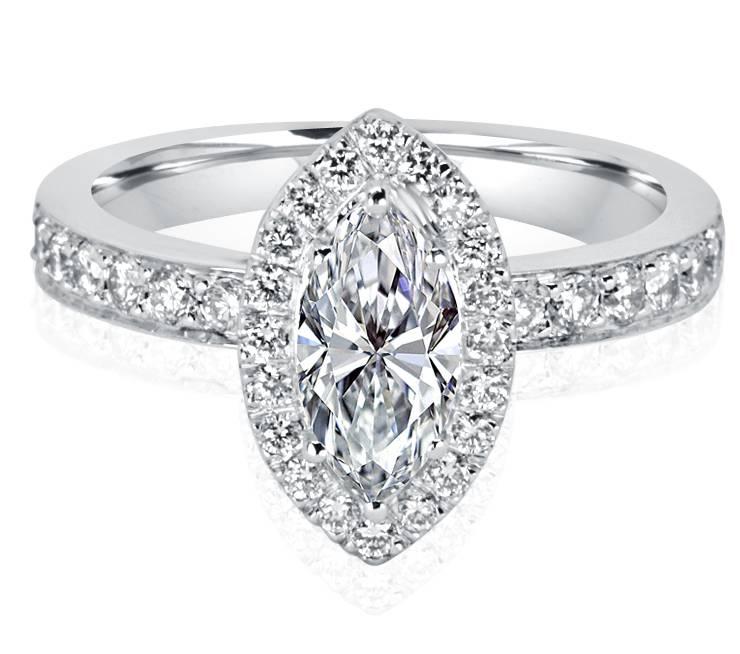 Ladies Halo Design Engagement Ring - R1106 - GN Designer Jewellers