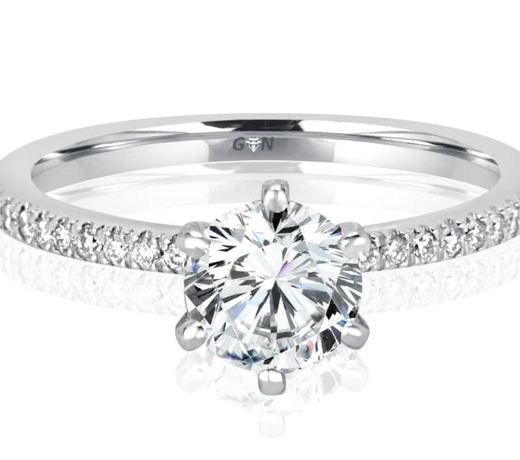 Ladies Solitaire Multi Band Engagement Ring - R1111 - GN Designer Jewellers