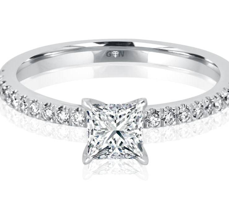 Ladies Solitaire Multi Band Engagement Ring - R1116 - GN Designer Jewellers