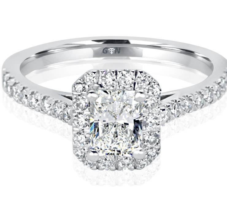 Ladies Halo Design Engagement Ring - R1120 - GN Designer Jewellers