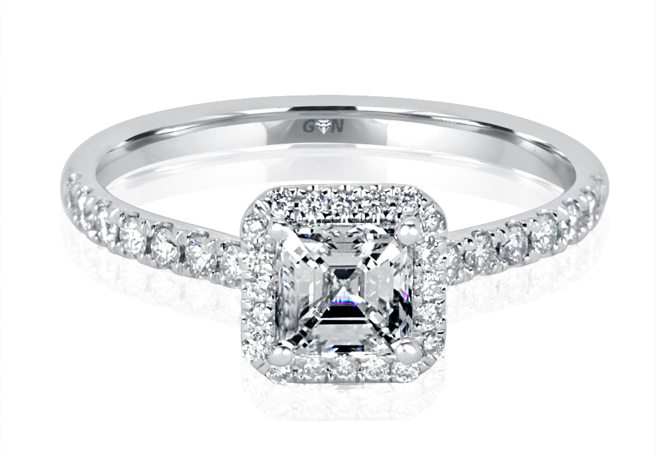 Ladies Halo Design Engagement Ring - R1121 - GN Designer Jewellers