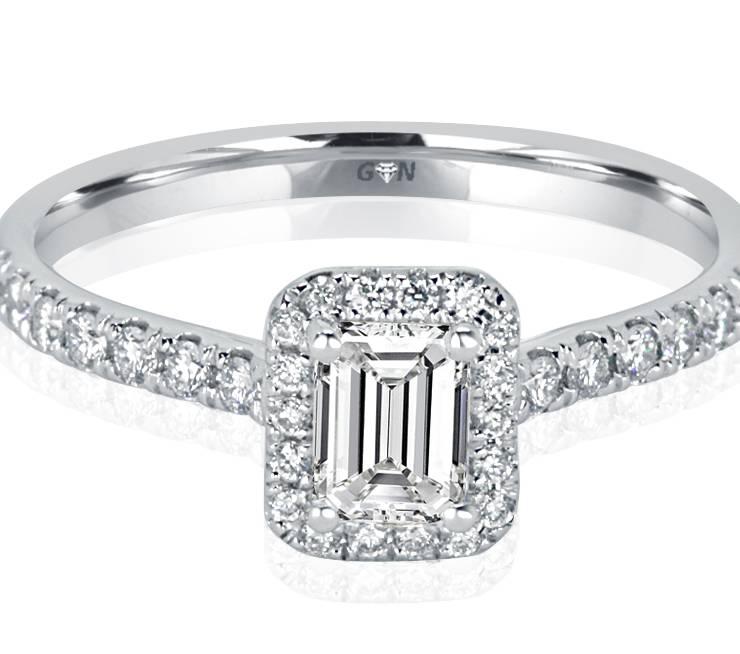 Ladies Halo Design Engagement Ring - R1122 - GN Designer Jewellers