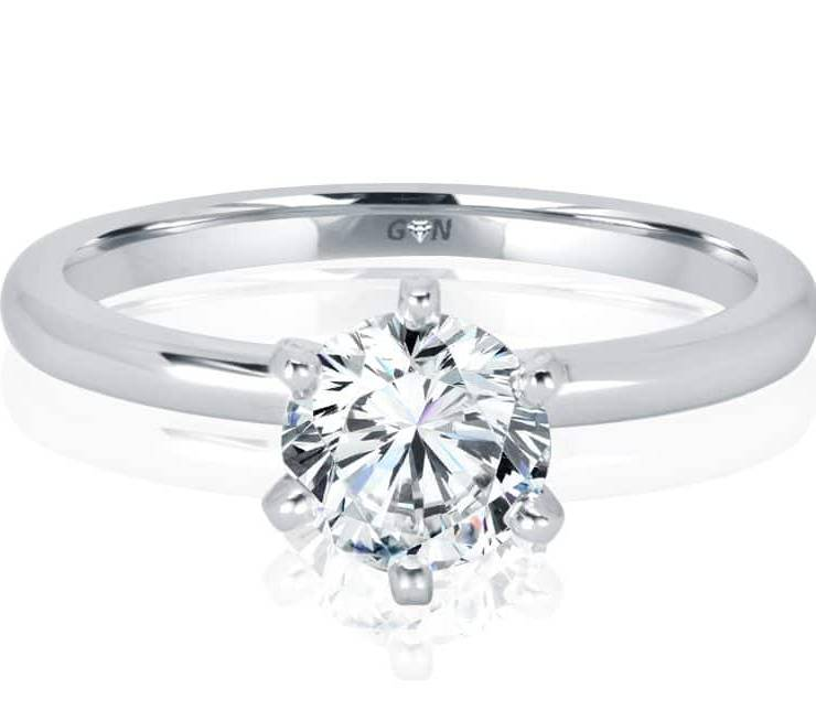 Ladies Solitaire Engagement Ring - R1167 - GN Designer Jewellers