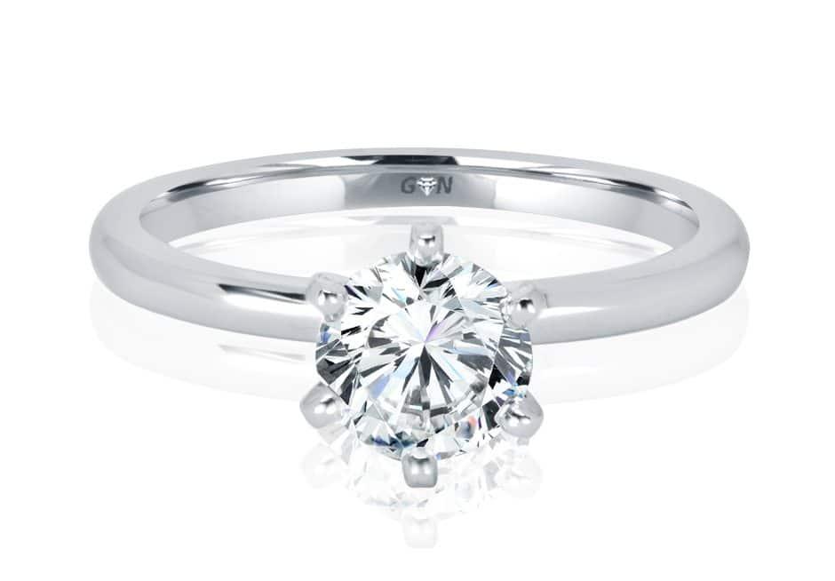 Ladies Solitaire Engagement Ring - R1167 - GN Designer Jewellers