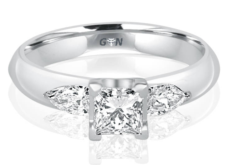Ladies Three Stone Design Engagement Ring - R362 - GN Designer Jewellers