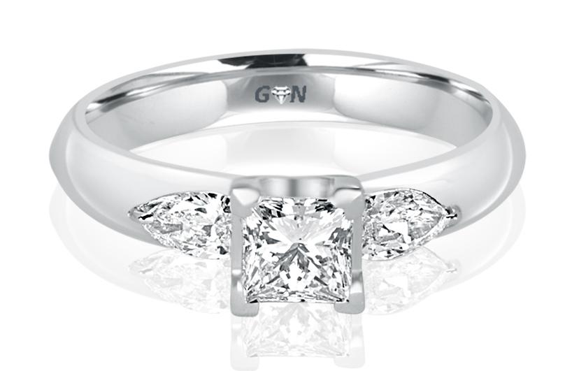 Ladies Three Stone Design Engagement Ring - R362 - GN Designer Jewellers