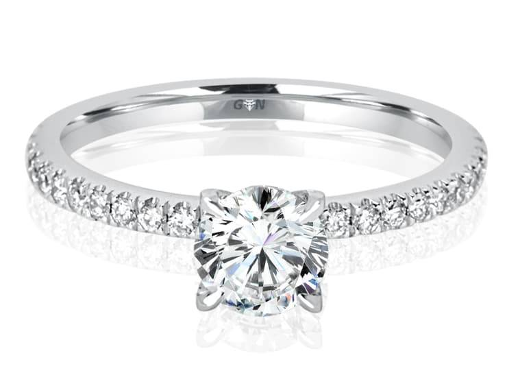 Ladies Solitaire Multi Band Engagement Ring - R434 - GN Designer Jewellers