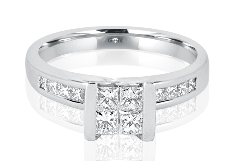 Ladies Solitaire Multi Band Engagement Ring - R477 - GN Designer Jewellers