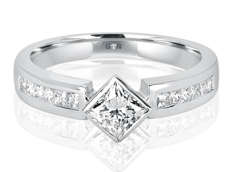 Ladies Solitaire Multi Band Engagement Ring - R500 - GN Designer Jewellers