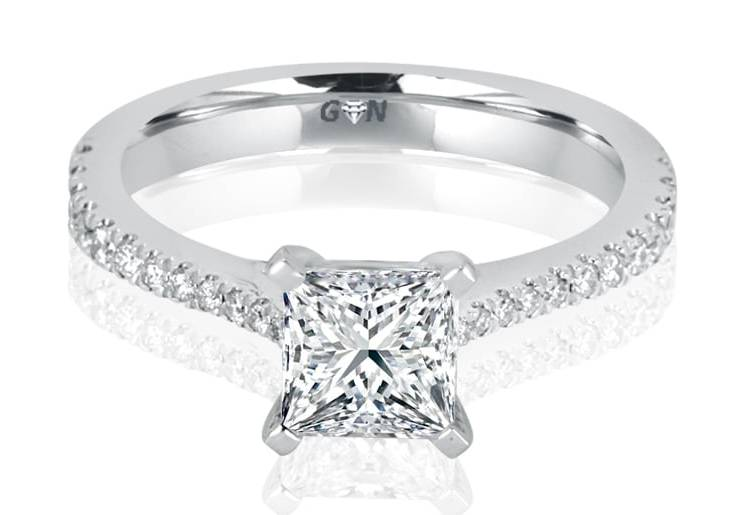 Ladies Solitaire Multi Band Engagement Ring - R725 - GN Designer Jewellers