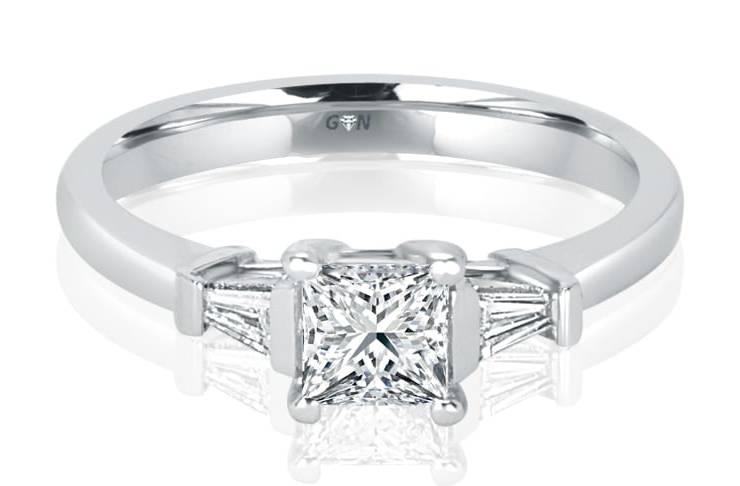 Ladies Three Stone Design Engagement Ring - R816 - GN Designer Jewellers