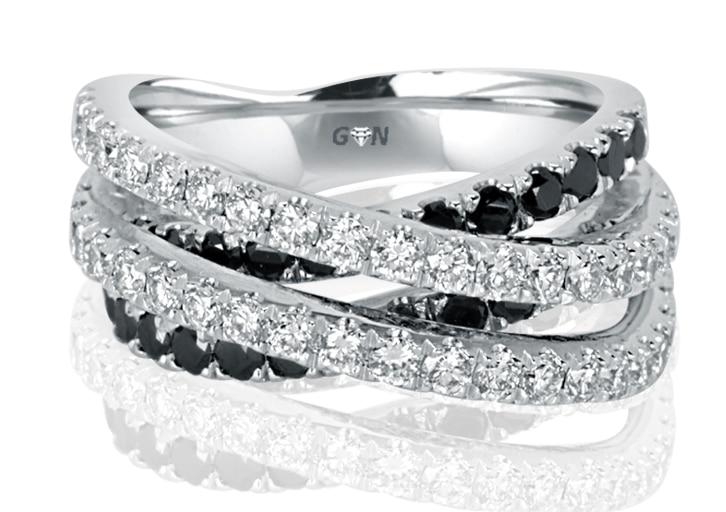 Ladies Multi Set Design Engagement Ring - R856 - GN Designer Jewellers