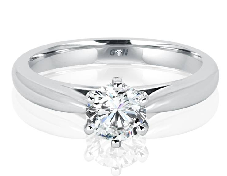 Ladies Solitaire Engagement Ring - R867 - GN Designer Jewellers
