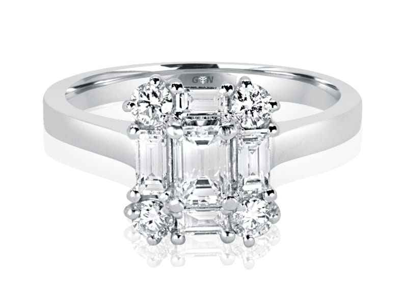 Ladies Solitaire Multi Band Engagement Ring - R879 - GN Designer Jewellers