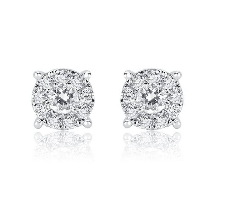 Diamond Earrings - DE822 - GN Designer Jewellers