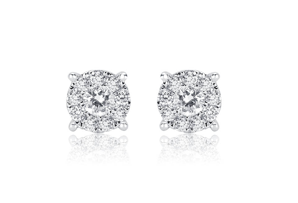 Diamond Earrings - DE822 - GN Designer Jewellers