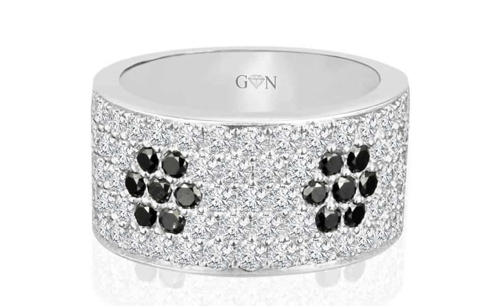 Ladies Multi Set Design Celebration Ring - R540F - GN Designer Jewellers