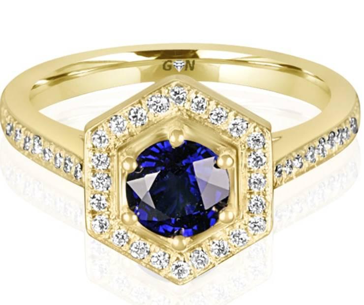 Ladies Halo Design Engagement Ring - R13853 - GN Designer Jewellers