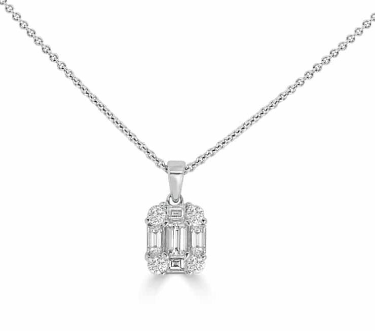 Diamond Pendants Engagement Ring - DP247 - GN Designer Jewellers