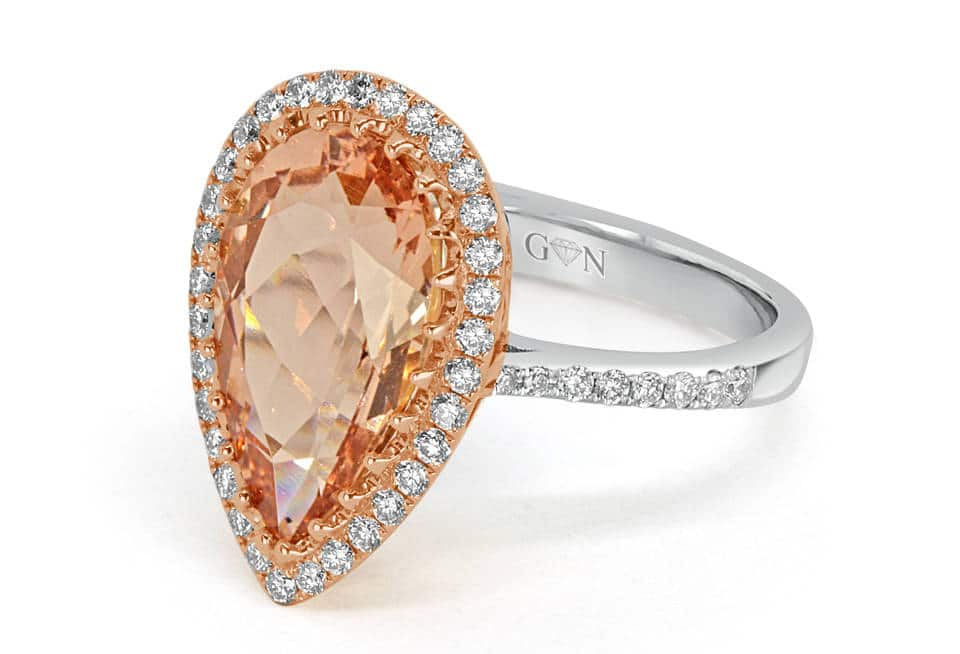 Ladies Halo Design Engagement Ring - R1051 - GN Designer Jewellers