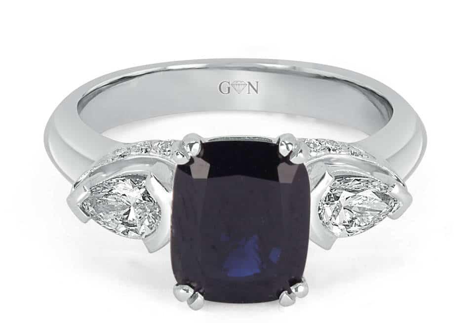 Three Stone design Engagement Ring - R1093 - GN Designer Jewellers