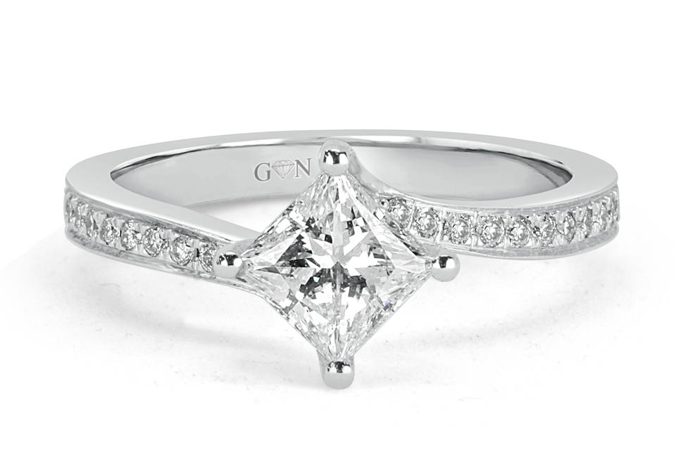 Ladies Solitaire Engagement Ring - R1118 - GN Designer Jewellers