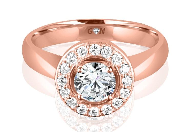 Ladies Coloured Stone Design Engagement Ring - R11785 - GN Designer Jewellers