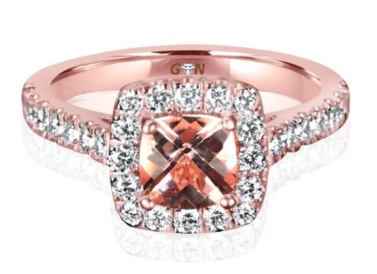 Ladies Coloured Stone Design Engagement Ring - R12804 - GN Designer Jewellers