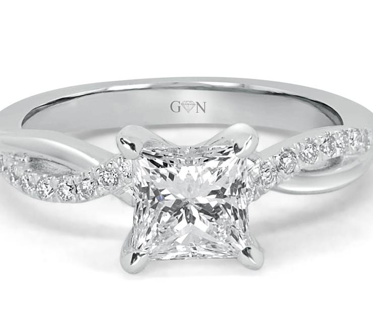 Ladies Solitaire Engagement Ring - R14245 - GN Designer Jewellers