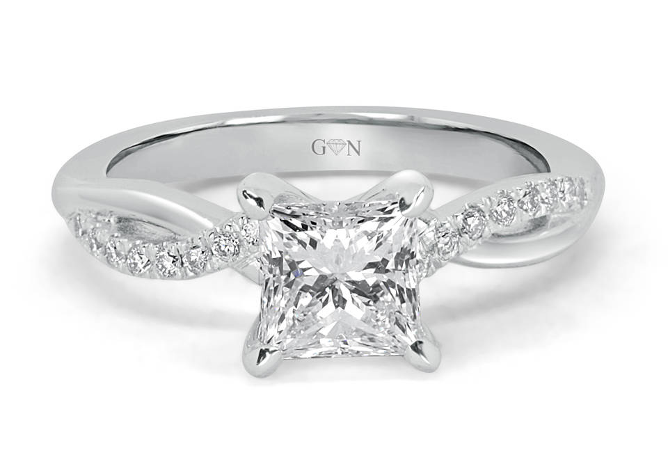 Ladies Solitaire Engagement Ring - R14245 - GN Designer Jewellers