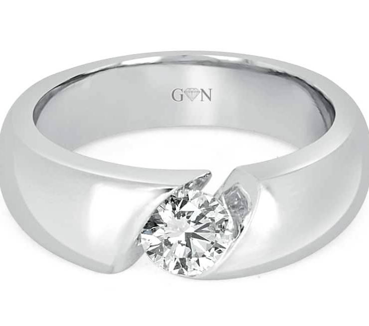 Ladies Solitaire Design Engagement Ring - R14316 - GN Designer Jewellers