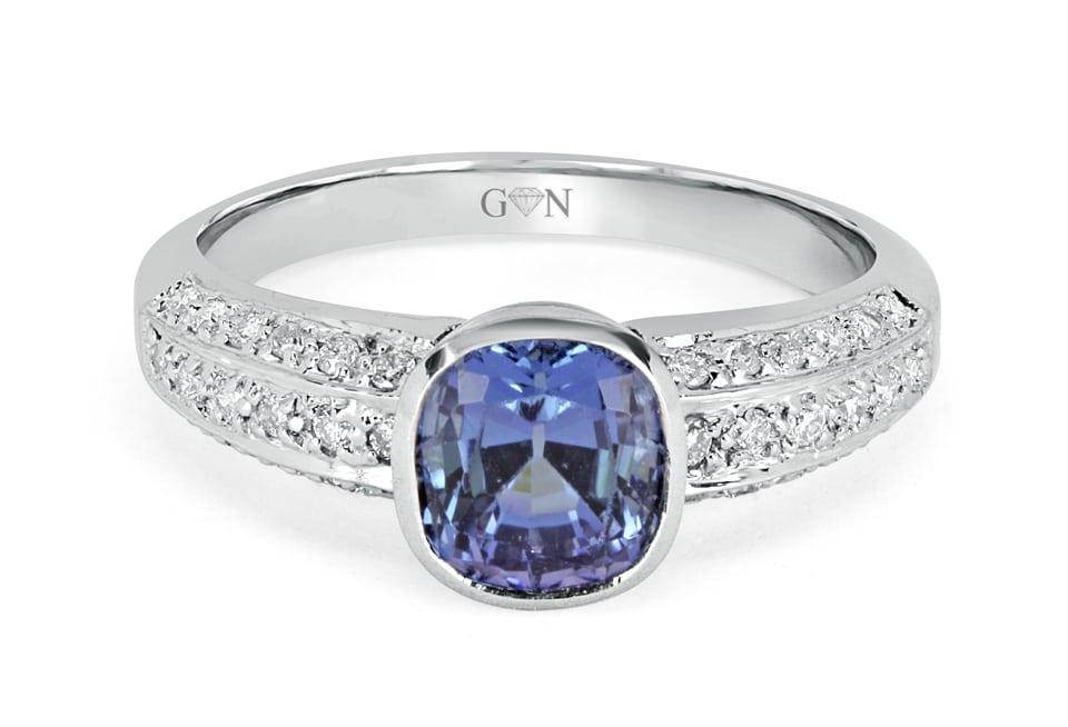 Ladies Coloured Stone Design Engagement Ring - R107 - GN Designer Jewellers